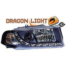 LHD Projector Headlights Pair Clear Black For Skoda Octavia Hatch Estate 96-04