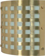Brushed Brass And Frosted Glass Energy Star ADA Wall Sconce