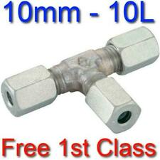 10L EQUAL TEE HYDRAULIC COMPRESSION FITTING/COUPLING TUBE PIPE JOINER 10mm
