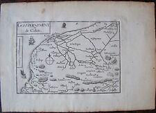 CARTE GOUVERNEMENT DE CALAIS  . Par TASSIN. Carte originale de 1633.  Dimensions