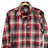 Carhartt Force Relaxed Fit Button Flannel Plaid L/S Shirt Red Black Men M Medium