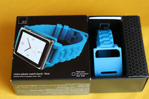 HEX iPod Nano (6th generation) Watch Band / Case New In Box / Blue