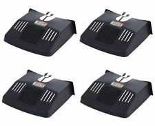 4 X PLASTIC BLACK DRAIN GRID GUTTER COVERS PROTECTOR LEAF GUARD OUTSIDE