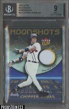 2003 Fleer Ultra Moonshots Chipper Jones HOF Jersey Atlanta Braves BGS 9 MINT