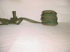 18Y D'KEI C1411 EMERALD GREEN DOUBLE LIP CORD DRAPERY UPHOLSTERY TRIM