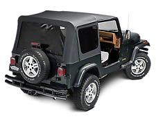 1988 1995 Jeep Wrangler Half Door Soft Top Canvas Top Amp Rear Tinted Window Black Fits 1994 Jeep Wrangler
