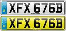 Cherished Número De Matrícula-XFX 676B-XFX XF FX números romanos Kit Car Cobra AC Dax