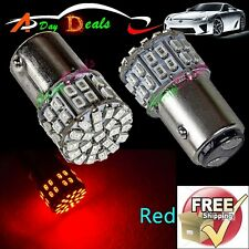 2x Super Bright BAY15D 1157 Xenon Red Rear Tail Stop Brake Light 50 SMD LED Bulb