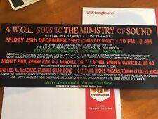 Dance Music Memorabilia / rave flyers - original / collectible / early 90's