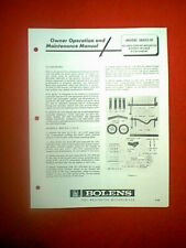 """BOLENS TRACTOR 42"""" MOWER DECK ATTACHMENT MODEL 18420-01 OWNERS MANUAL DATED 4-68"""