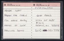 ARMADA - BREAK THE CHAIN - CHRISTIAN METAL DEMO TAPE 1989 HOLT, MI
