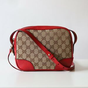 Gucci Bree Guccissima GG Leather Canvas Crossbody Shoulder Bag 449413