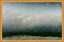 Mönch am Meer Romantik Wolken Strand Nebel LW Caspar David Friedrich A1 041