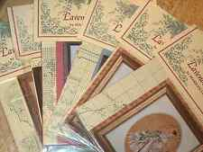 Lavender & Lace Assorted Cross Stitch Patterns Some with Beads/Kreinik U Choose