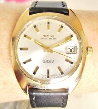 Gents 1970s GP Montine Automatic Swiss 25J Watch AS 1913 movt Serviced Warranty