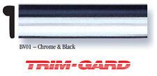 "1/2"" x 50' Roll Universal Black & Chrome Trim-Gard Wheel Well Molding"