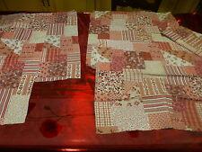patchorck style liberty   tissu coton 50x50cm 2piéces rose parme neufs