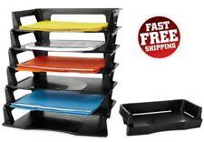 Stackable Letter Tray Desk Office Document File Holder Storage Desktop Organizer