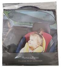 Mamas And Papas Folding Rear Sunshade Car Accessory Baby Safety