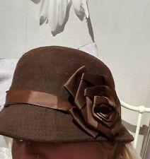Brown Cloche Hat. 1920s Peaky Blinders