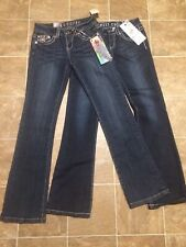 Miss Chic Jeans 2 Pairs NWT Size 3 Heavy Stitch