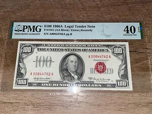 $100 1966A Legal Tender Note PMG40 EPQ