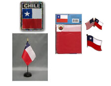 Chile Heritage Flag Set (3x5 Flag, Decal, Lapel Pins, & Desk Flag)