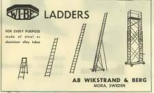 1953 Wikstrand And Berg Mora Sweden Ladders Ad