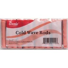 """ANNIE SHORT COLD WAVE RODS W/ RUBBER BAND #1112, 12 COUNT PINK 5/16"""""""
