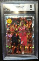 1996 TOPPS DRAFT PICK REDEMPTION #DP1 ALLEN IVERSON ROOKIE CARD RC SIXERS BGS 8