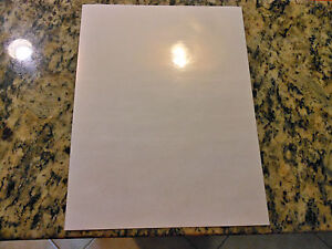 Glossy white inkjet printable vinyl - 100 pack (8.5in x 11in sheets)