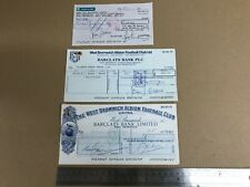 More details for vintage 1980 1990 west bromwich albion football club barclays cheques