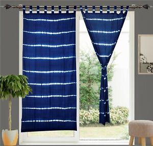 Tie Dye Curtain Shibori Design Beautiful Door Curtain Cotton Curtains Set Of 2