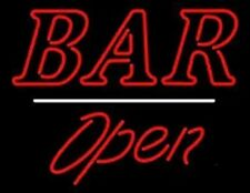 """New Bar Open Neon Light Sign 24""""x20"""" Lamp Poster Real Glass Beer Bar"""