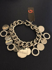 G By Guess Silver Coloured Coin Bracelet, Like Charm Bracelet Diamantes