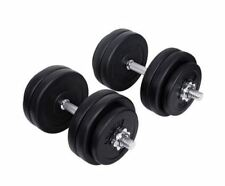 NEW EVERFIT HOME GYM FITNESS 30KG DUMBBELL SET HOME EQUIPMENT HIGH QUALITY STEEL