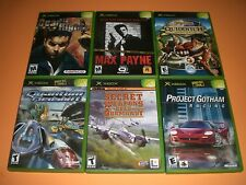 Lot of 6 Xbox gms Complete CIB GREAT! Harry Potter, Max Payne Quantum Redshift