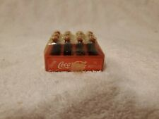 Vintage Mini Coca Cola 12 Pack Bottles With Holder Unopened