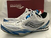 Saucony Velocity Spike 2 Distance Running Shoes Men's Size 11 White Royal 2926-2