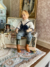 Vintage Miniature Dollhouse Doll Porcelain Little Boy England Victorian Adorable