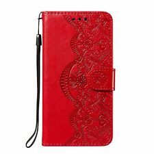 Handyhülle für Xiaomi Redmi Note 10 Pro Schutztasche Cover Bumper Wallet Rot Neu