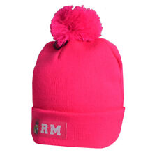 REAL MADRID FC CUFF KNITTED PINK HAT CAP GIRL LADIES WINTER CHRISTMAS XMAS GIFT