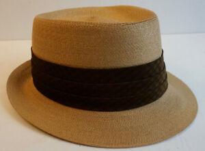 Vintage Dobbs Golden Coach MIlan Weave Straw Hat size 7 1/2