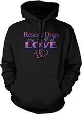 Rescue Dogs Are A Gift Of Love Doggy Puppy Paws Puppies Shelter Hoodie Pullover