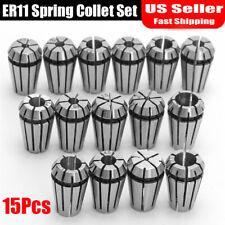 15pcs New Er11 Spring Collet Set For Cnc Milling Lathe Tool Engraving Machine
