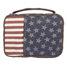 Women's Canvas School Book Bible Cover Carry Case Red White Blue USA Print