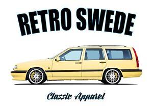 VOLVO 850 T5 ESTATE t-shirt. RETRO SWEDE. CLASSIC CAR. SWEDISH. MODIFIED.