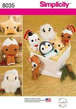 Simplicity SEWING PATTERN 8035 Stuffed Toys & Christmas Tree Ornaments