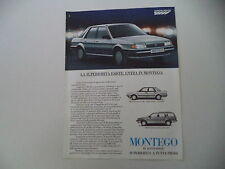 advertising Pubblicità 1985 AUSTIN MONTEGO