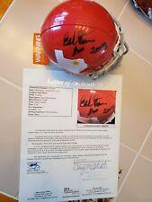 HANK STRAM signed DALLAS TEXANS mini helmet CHIEFS JSA COA Full Letter